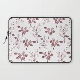 Sepia Christmas Berries Pattern Laptop Sleeve