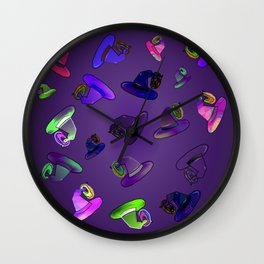 Donuts and Witch Hat Multi Wall Clock