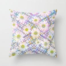 Daisy Plaid Throw Pillow