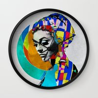 pop art Wall Clocks featuring Pop by Steve W Schwartz Art