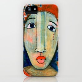 Mixed Media - When I think of angels I think of you.. iPhone Case