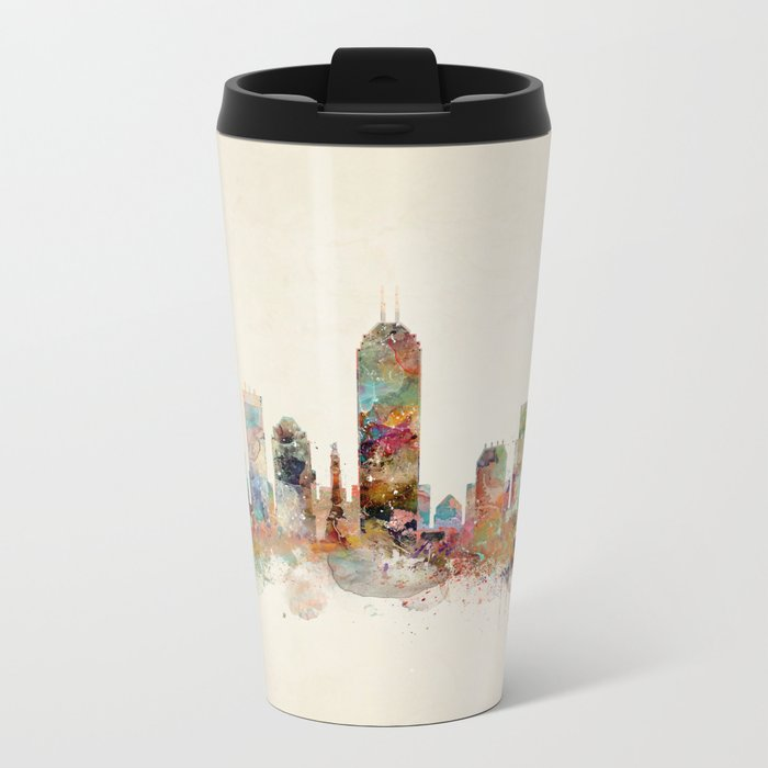 indianapolis indiana Metal Travel Mug