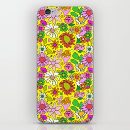 60's Lovers Floral in Sunshine Yellow iPhone Skin