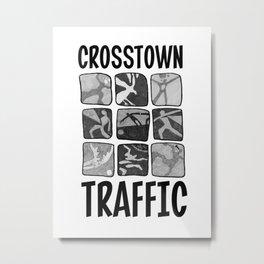 Crosstown Traffic - WH Metal Print