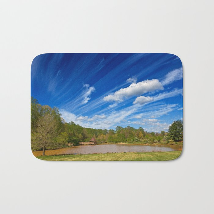 Meadowlark Cloud Gardens Bath Mat