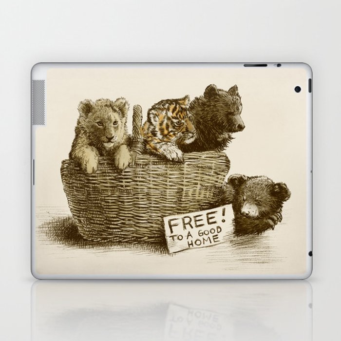 Lions and Tigers and Bears Laptop & iPad Skin