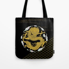 Traditional Gold Dragon Tote Bag