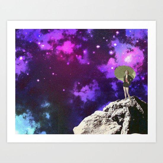 Lady in Space II Art Print