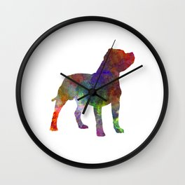 Staffordshire Bull Terrier in watercolor Wall Clock