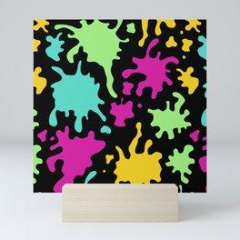 Colorful Paint Splatter Pattern Mini Art Print