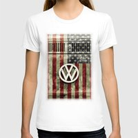vw T-shirts featuring VW Retro US Flag by Alice Gosling