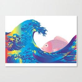 Hokusai Rainbow & Jpanese Snapper  Canvas Print