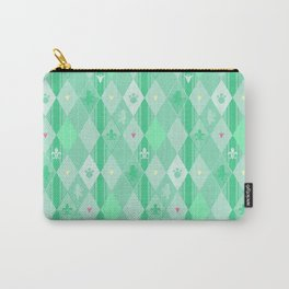Green Lily Bear Carry-All Pouch
