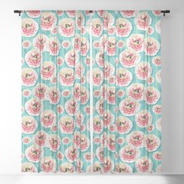 Summer Bloom #floral #pattern Sheer Curtain