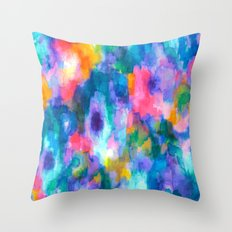 Paradise (Blue) Throw Pillow