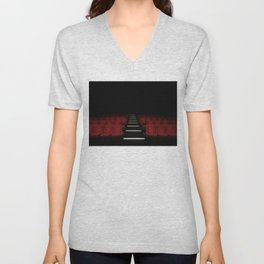 Red Theater Unisex V-Neck