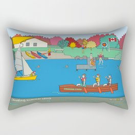 Canoeing Summer Camp Rectangular Pillow