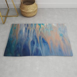 Sands of Time - Abstract Acrylic Art by Fluid Nature Rug