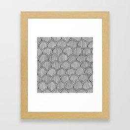 Hand Drawn Doodle Pattern Framed Art Print