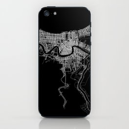 New Orleans map iPhone Skin