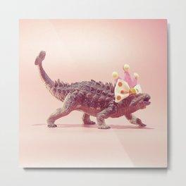 Ankylosaurus with crown Metal Print