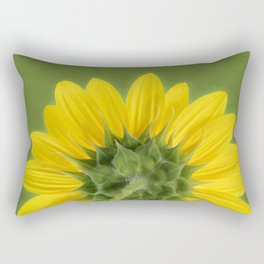 Sunflower Sunrise - Botanical Art by Debi Dalio Rectangular Pillow