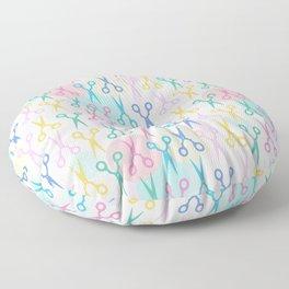 Hair Scissors Pastel Pattern Floor Pillow