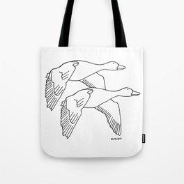 Geese in Flight #2 Tote Bag