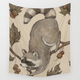 The Raccoon and Sycamore Wall Tapestry