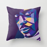 prince Throw Pillows featuring Prince by Liam Brazier