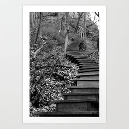 Endless Stairs Art Print