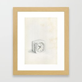 Little clock Framed Art Print