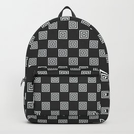 Phillip Gallant Media Design - Black and White Squares Backpack