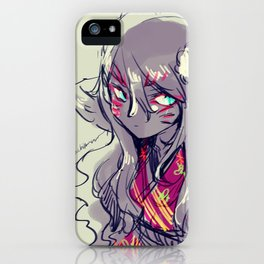 Fox girl sketch iPhone Case