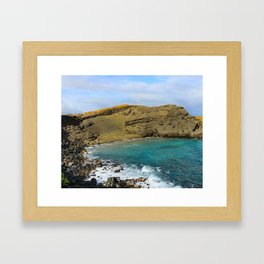 Papakōlea Green Sand Beach Framed Art Print