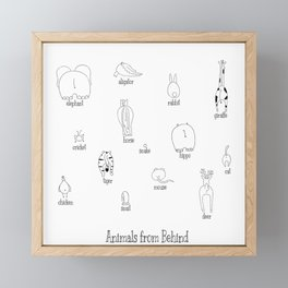 Animals from behind Framed Mini Art Print