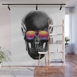 Summer Black Skull Wall Mural
