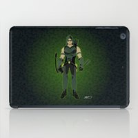green arrow iPad Cases featuring Green Arrow by The Vector Studio