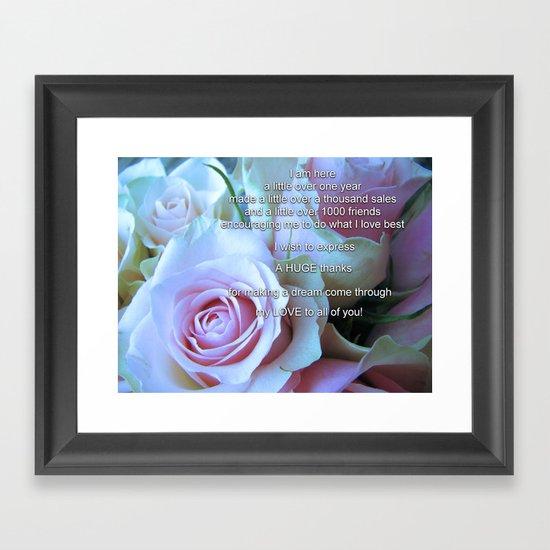 Gratefulness! Framed Art Print
