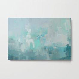 Cool Ocean Breeze Abstract Expressions Metal Print