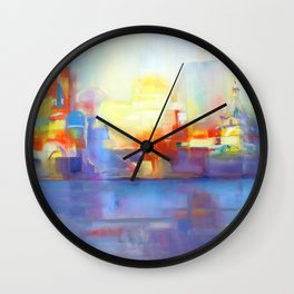 """""""After the Rain"""" oil painting by Diana Grigoryeva Wall Clock"""
