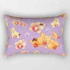 Orchids & Ladybirds Rectangular Pillow