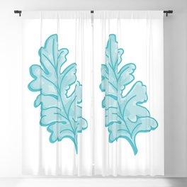 Crosshatching Dusty Miller Leaf Illustration Blackout Curtain