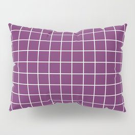 Palatinate purple - violet color - White Lines Grid Pattern Pillow Sham