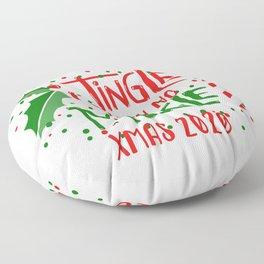 Jingle with no Mingle Christmas Typography Floor Pillow