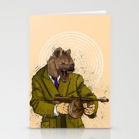 gangster Stationery Cards featuring Gangster Hyena by Ichorteeth