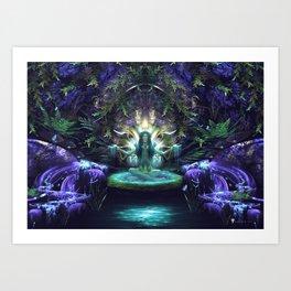 Convalescence - Visionary - Fractal - Manafold Art Art Print
