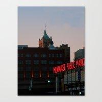 milwaukee Canvas Prints featuring Milwaukee by Tatum Kevlin