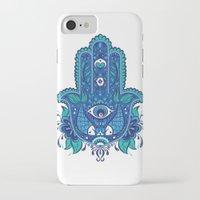 hamsa iPhone & iPod Cases featuring Hamsa by Miss ChatZ