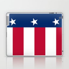 Texan state flag - high quality vertical authentic Version  Laptop & iPad Skin